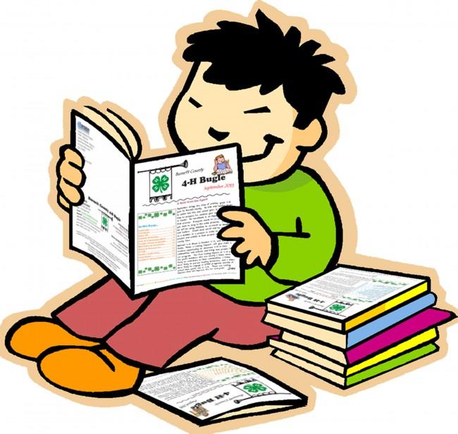 Boy reading Bugle copy
