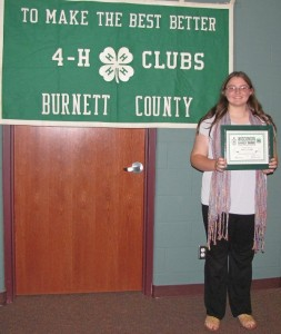 Patty Close, Wisconsin 4-H Key Award 2015 Recipient